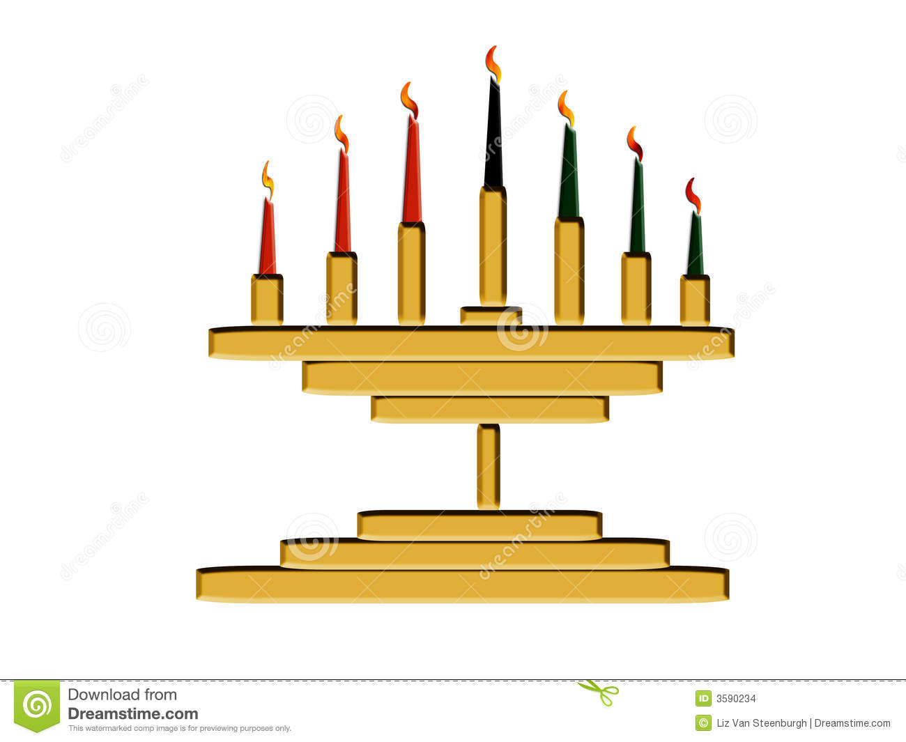 Kwanzaa Candles Stock Illustration Image Of Candleholder