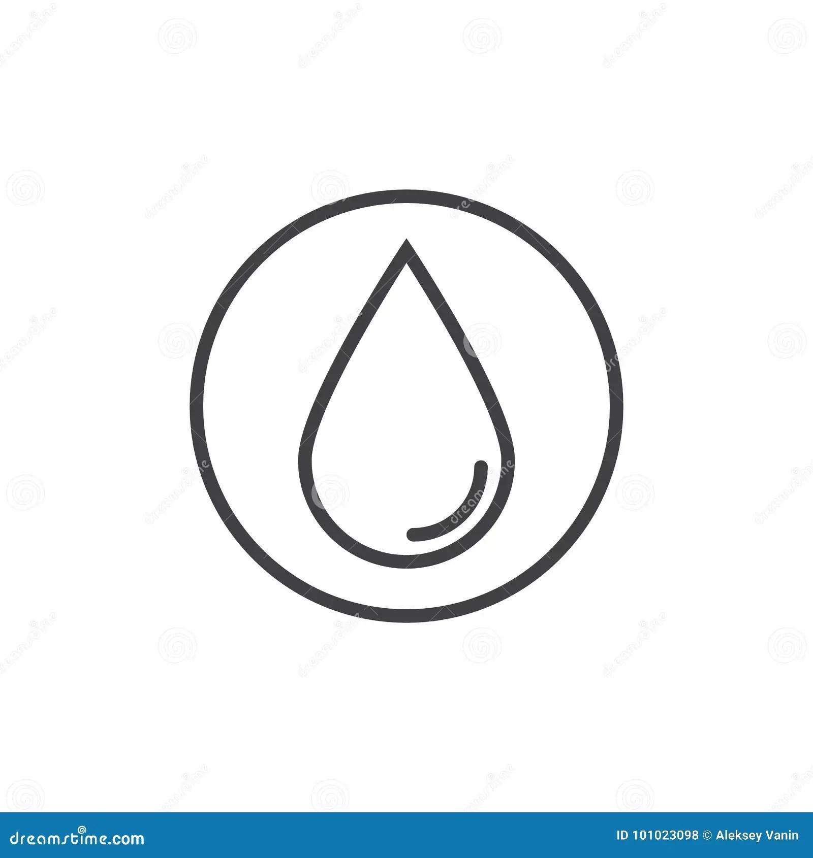 Linea De Descenso Del Agua Icono Ilustracion Del Vector