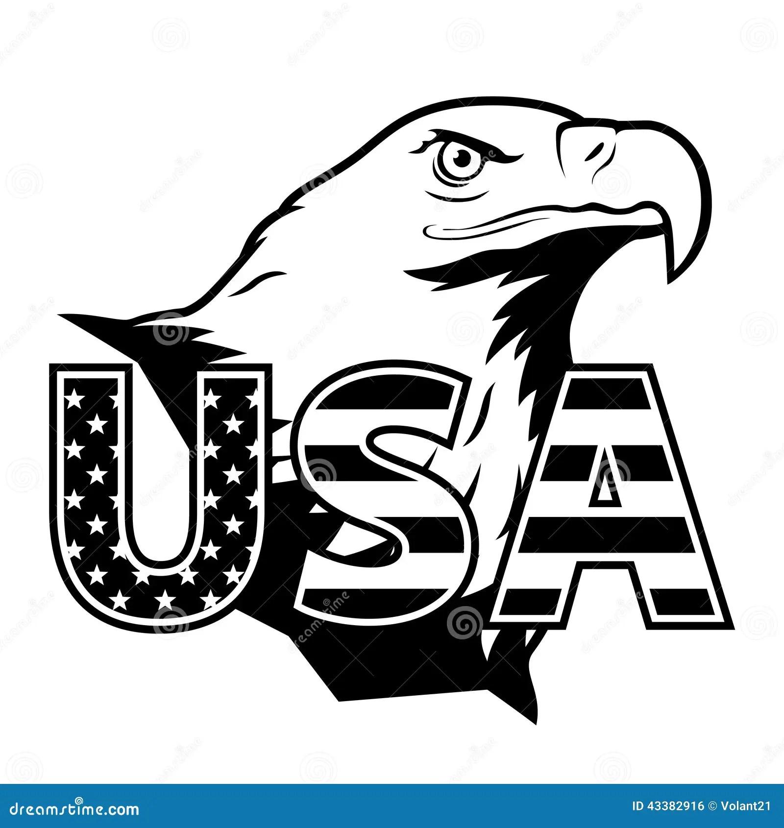 L Aquila Americana Con U S A Ha Stilizzato L Iscrizione