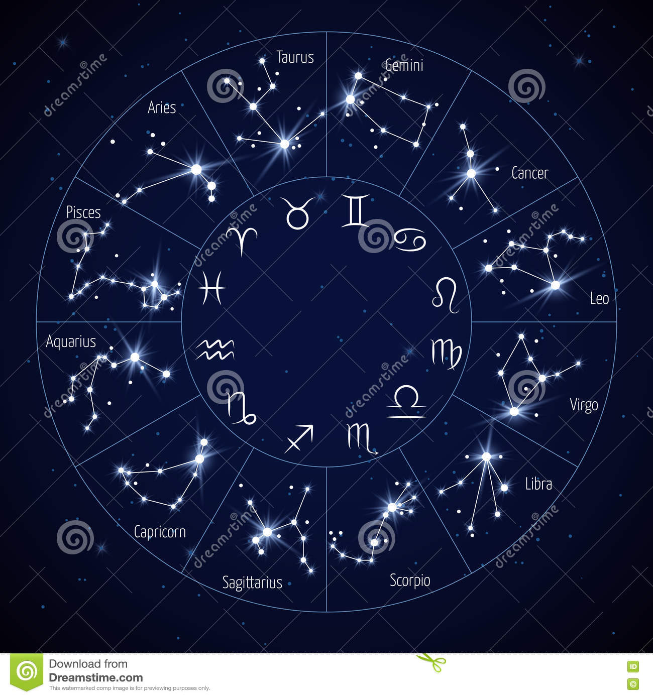 Night Sky Constellations Star Map Tattoo