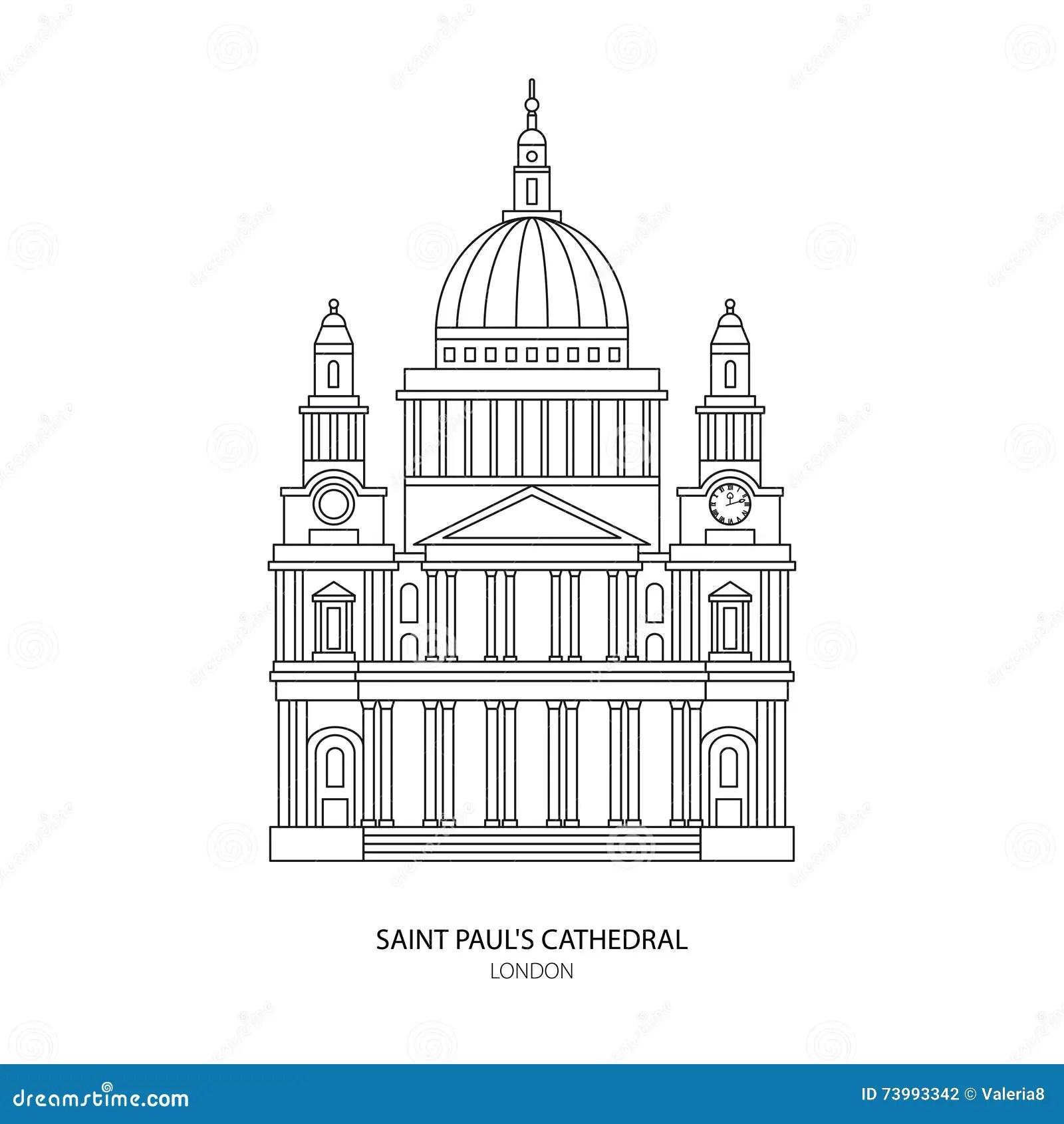 La Cathedrale De St Paul Illustration De Vecteur De Point