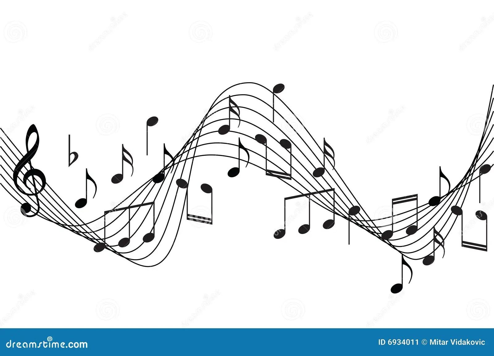 La Musica Observa El Fondo Ilustracion Del Vector