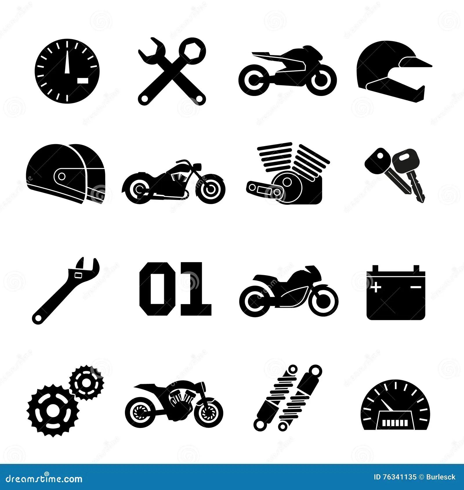 La Motocyclette La Course De Moto Et Les Pieces De
