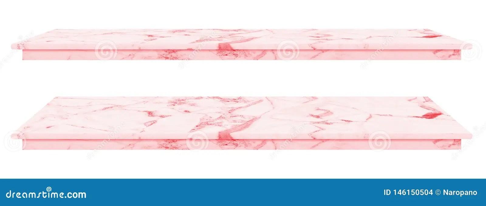 https fr dreamstime com table marbre surface rose plan travail dalle en pierre des produits d affichage isolement fond blanc ont chemin image146150504