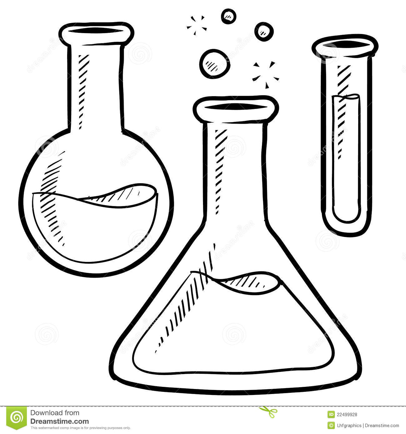Lab Equipment Sketch Royalty Free Stock Photos