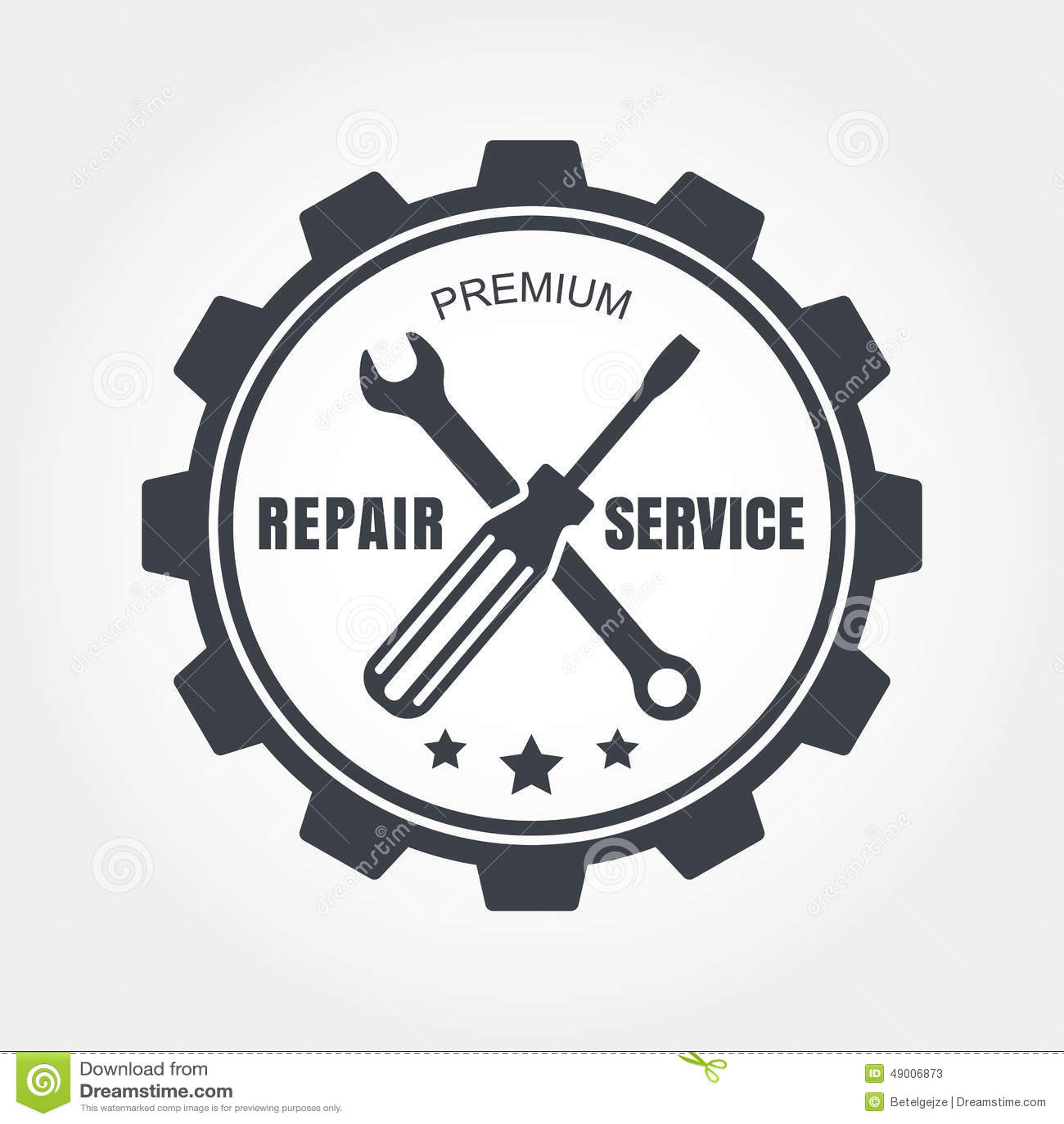 Label De Service Des Reparations De Voiture De Style De