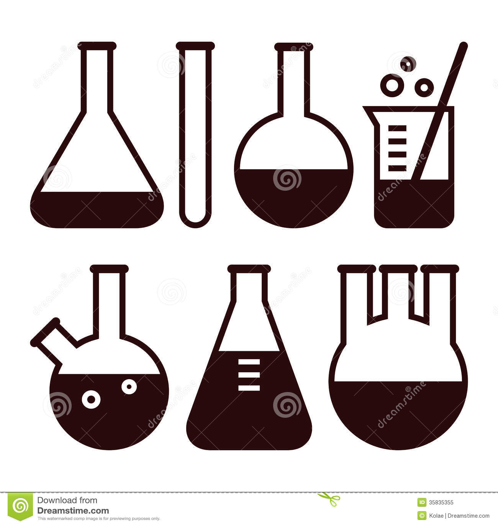 Laboratory Equipment Stock Vector Image Of Glassware
