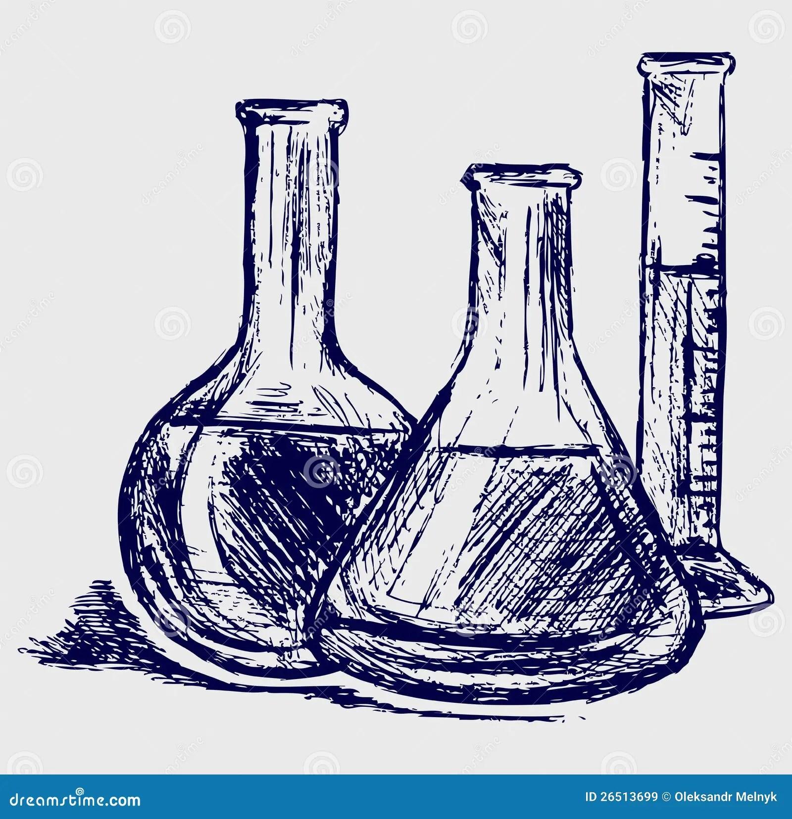Laboratory Glassware Stock Vector Illustration Of Cartoon