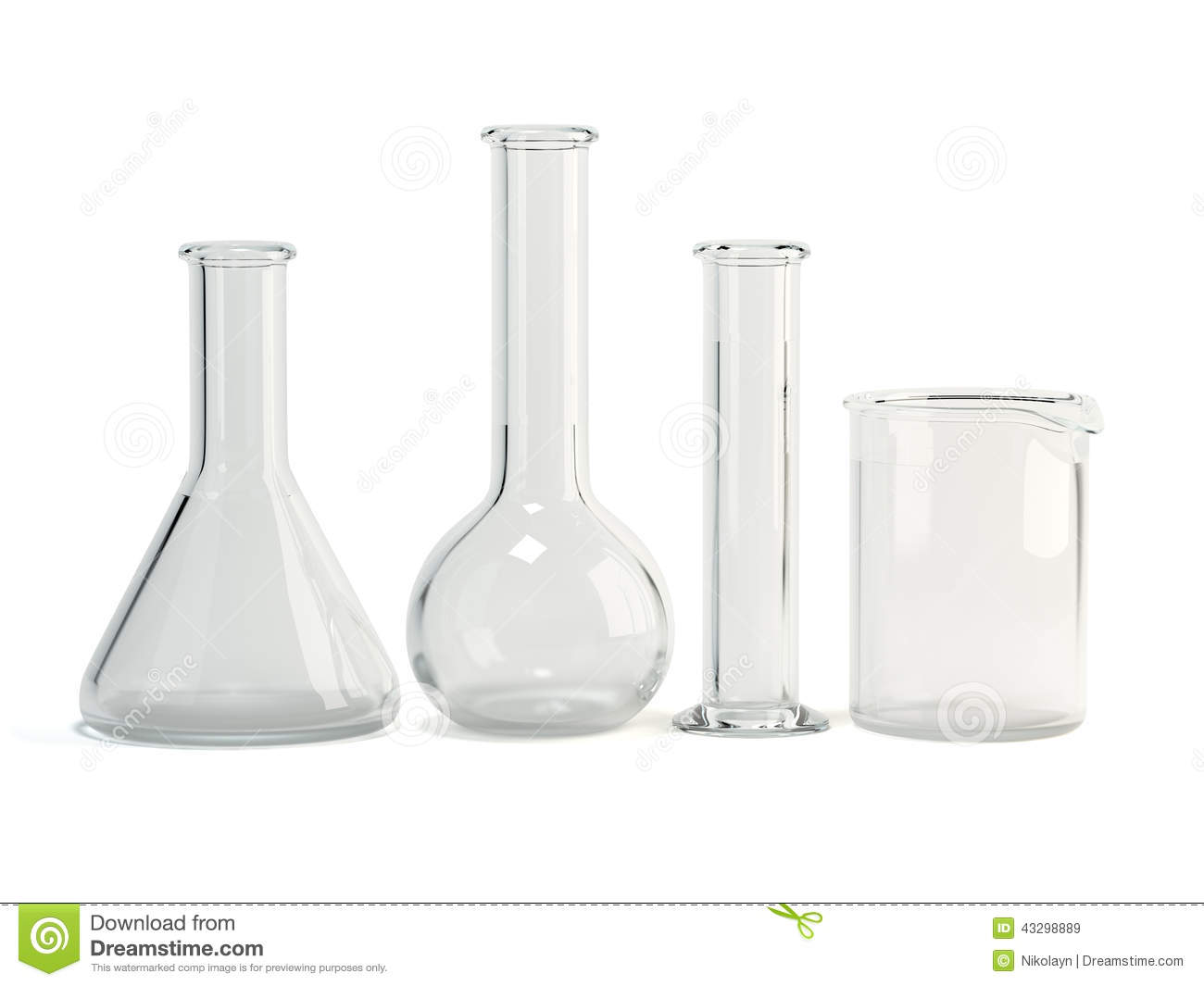 Laboratory Glassware Chemical Science Equipment Stock Illustration
