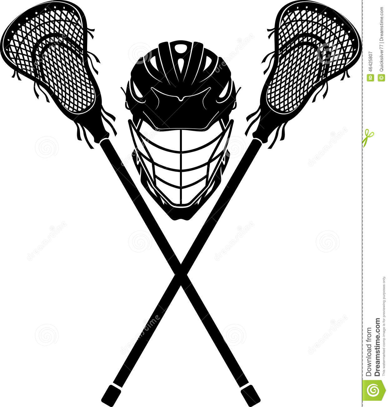 Lacrosse Sports Equipment Stock Illustration