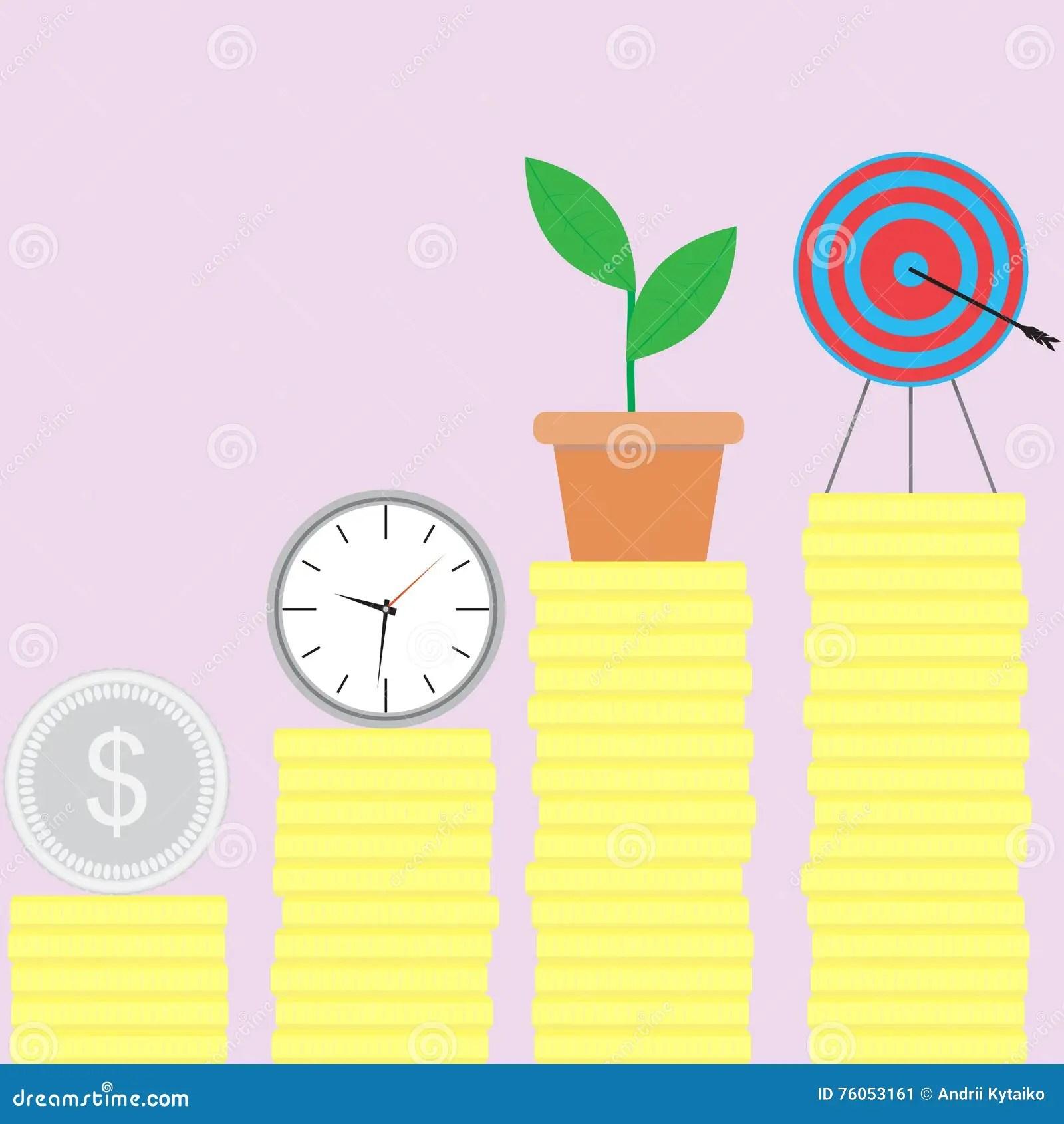 Ladder Of Success Stock Vector Illustration Of
