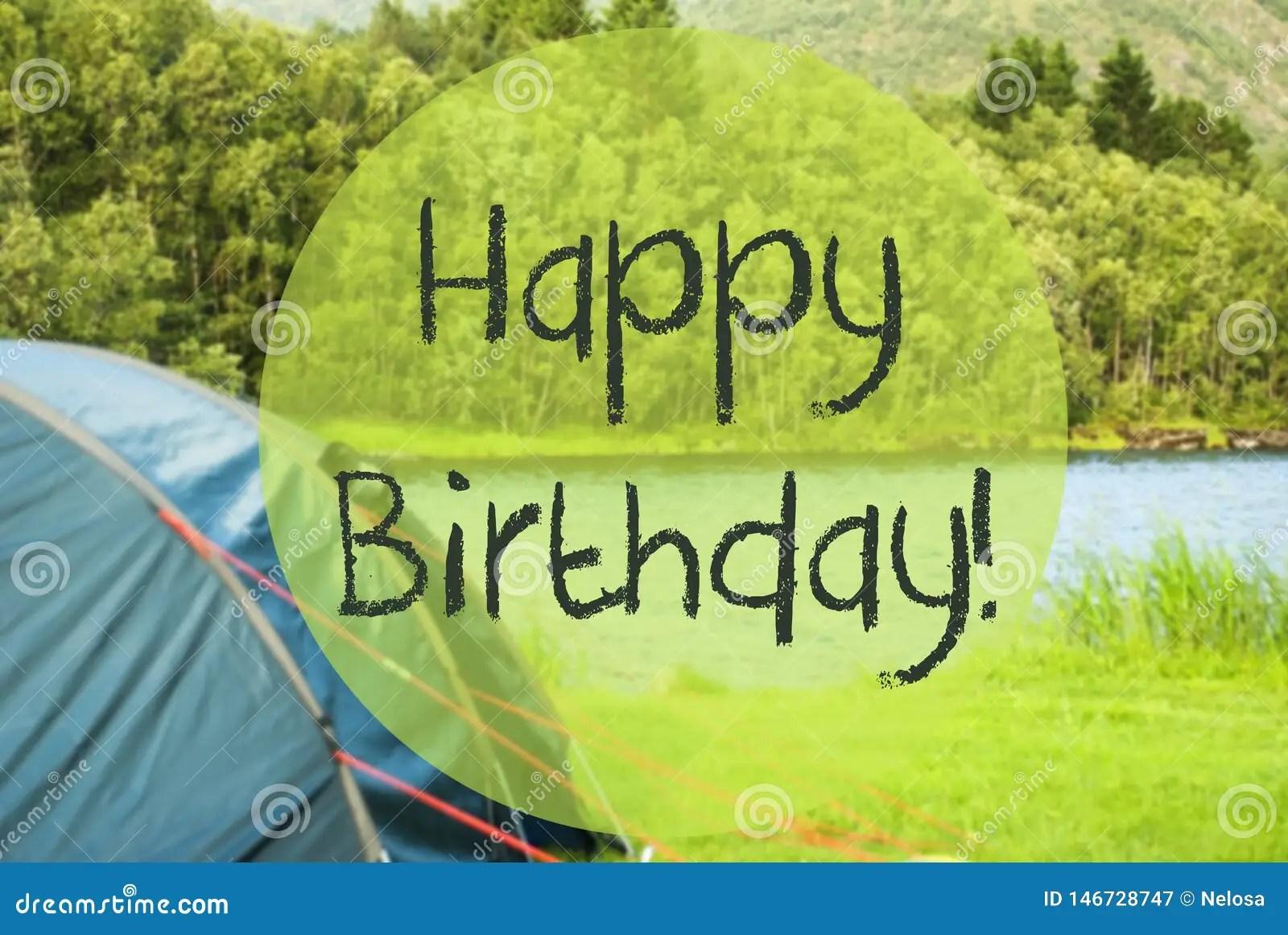 Lake Camping Text Happy Birthday Norway Beautiful Nature Stock Image Image Of Lake Peace 146728747