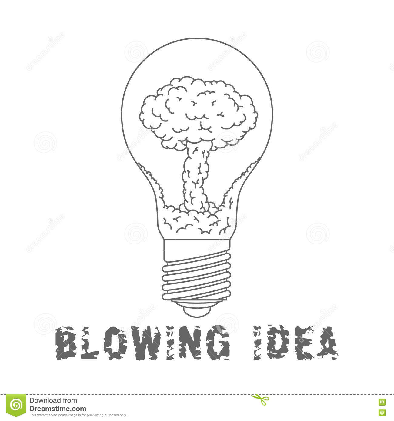 Lamp Bulb With Nuclear Explosion Inside Blowing Idea