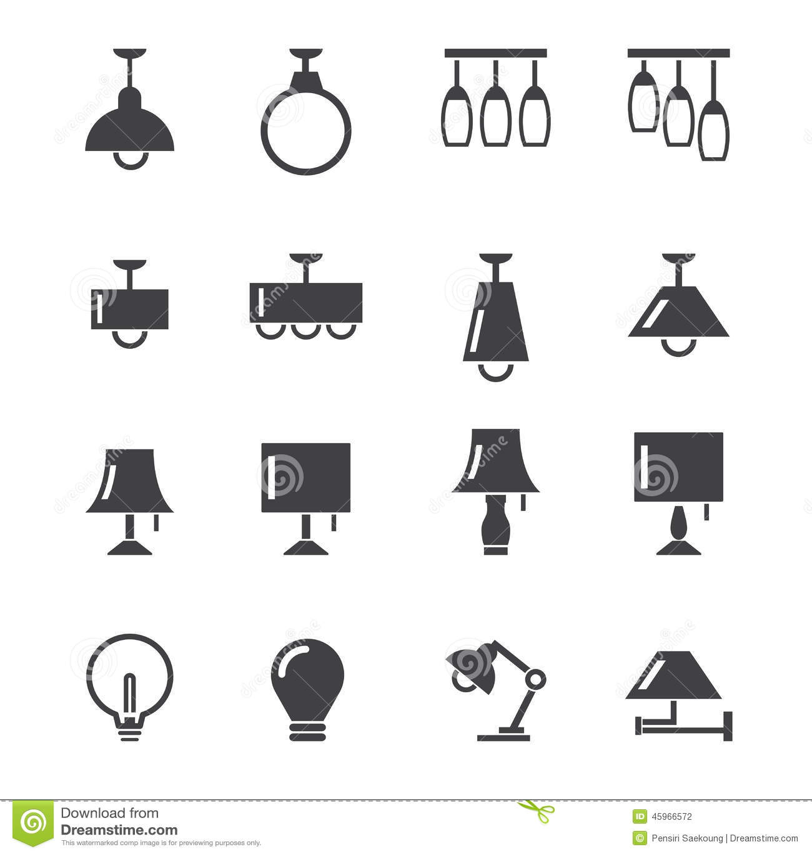 Lamp Icon Stock Vector