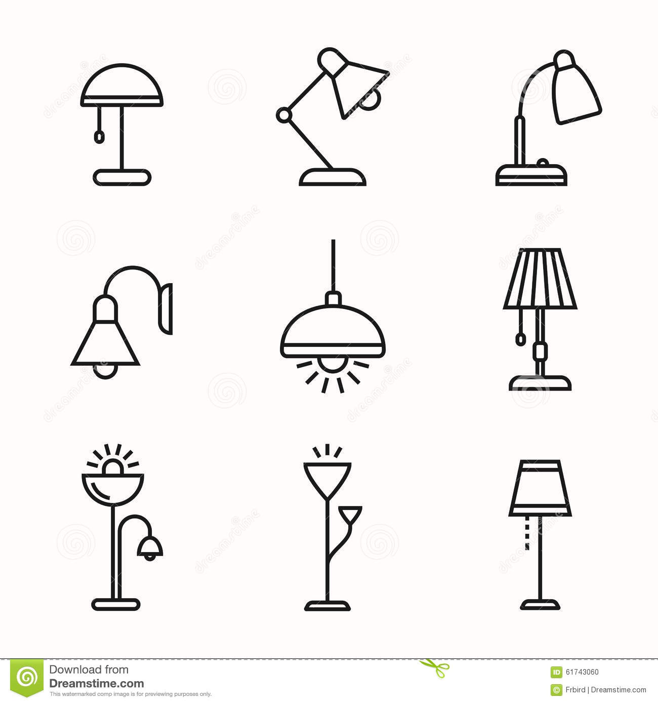 Lamps And Lighting Devices Stock Vector Illustration Of