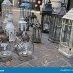 Lanterns And Lights For Sale At Flea Market Stock Photo Image Of Lantern Light 47845570