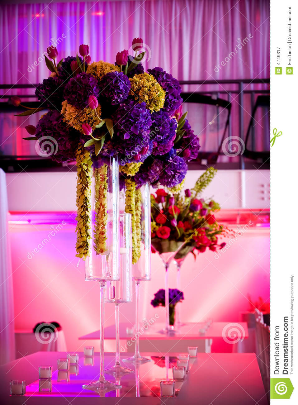 Large Flower Centerpieces Stock Image Image Of Blossoming