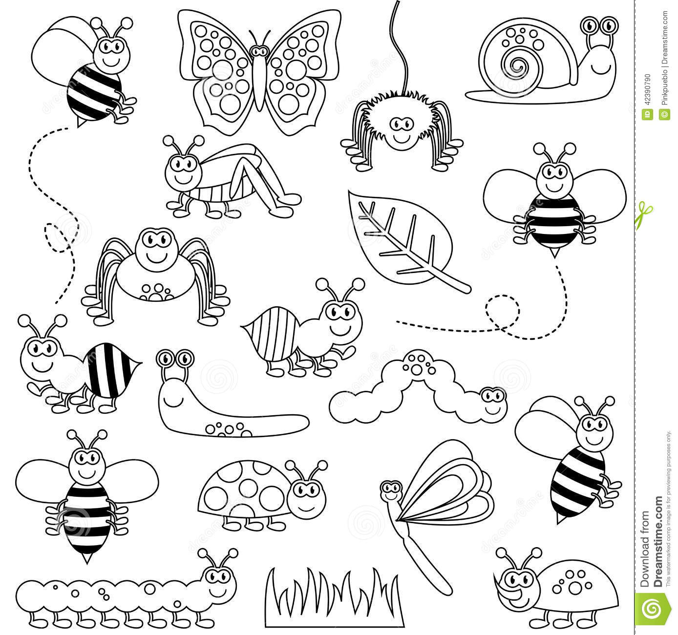 Stick Insect Clip Art Black And White Sketch Coloring Page