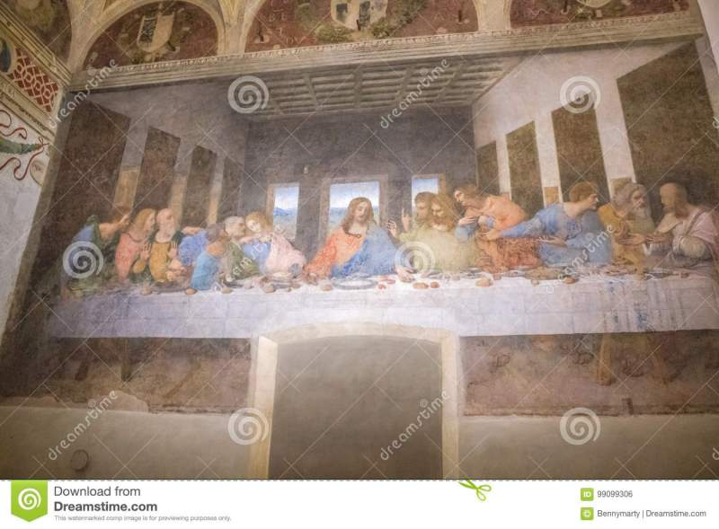 Last Supper Milan Editorial Photo Image Of Grazie 99099306