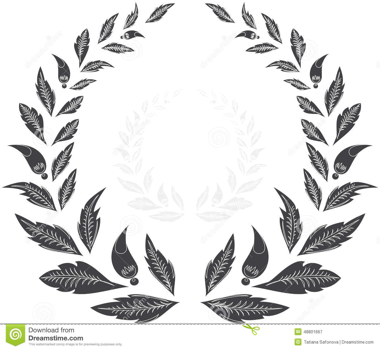 Laurel Wreath Award Stock Vector