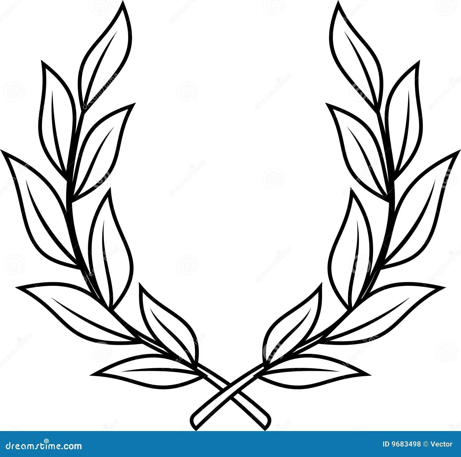 Laurel Wreath Vector Stock Vector Illustration Of