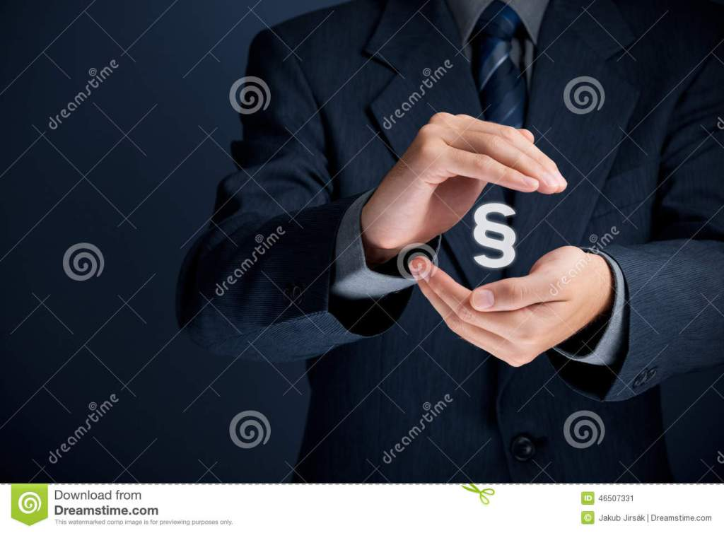 Lawyer Protect Rights Stock Photo Cartoondealer Com