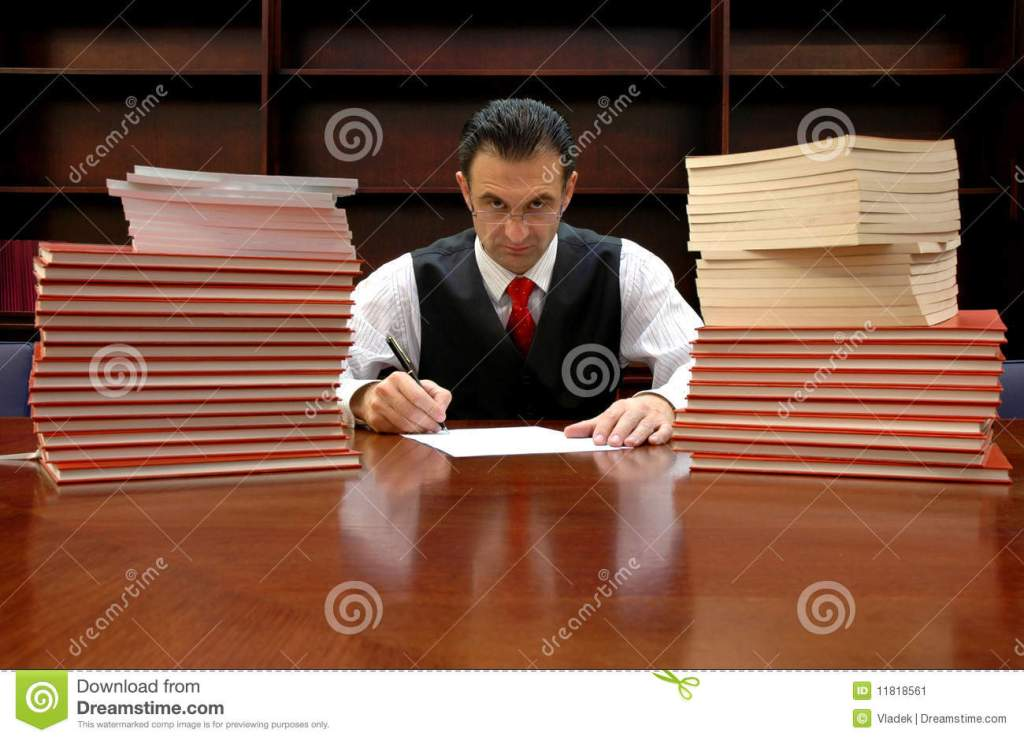 Lawyer Is Signing The Contract Stock Image Image 11818561