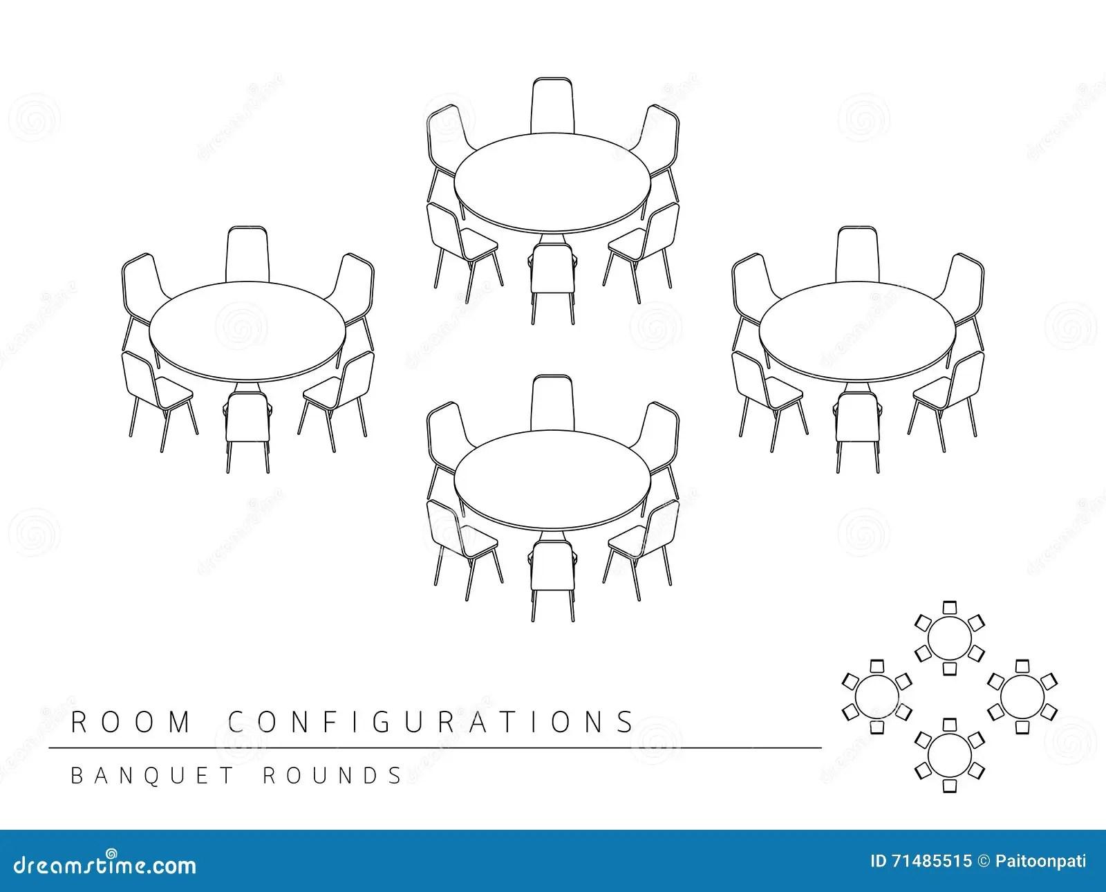 Le Banquet De Configuration De Disposition D Installation