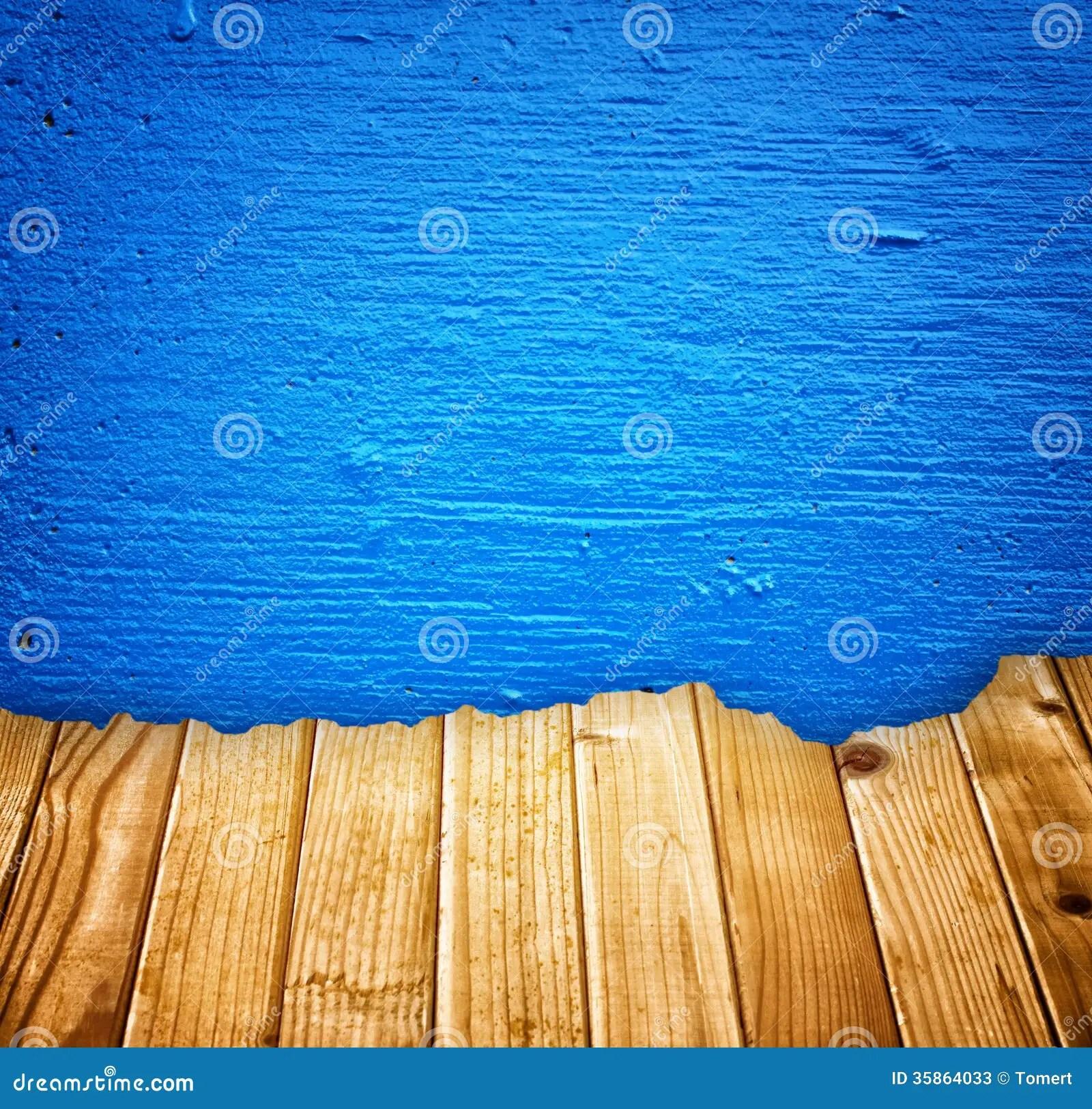 le bleu a peint le mur et l effet en bois casse de planches image stock image du grunge page 35864033