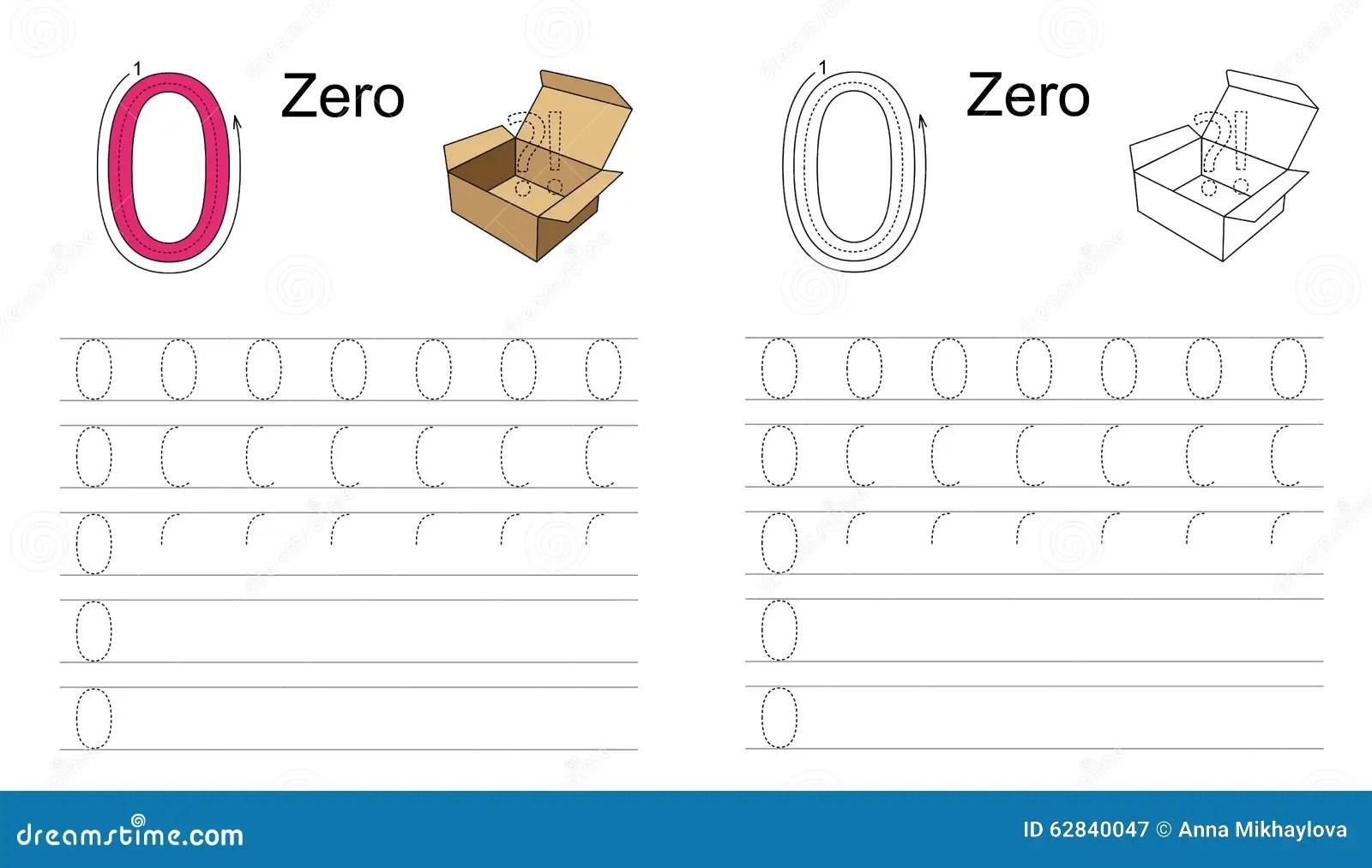 Le Schema Zero Zero Apprenez L Ecriture Illustration De