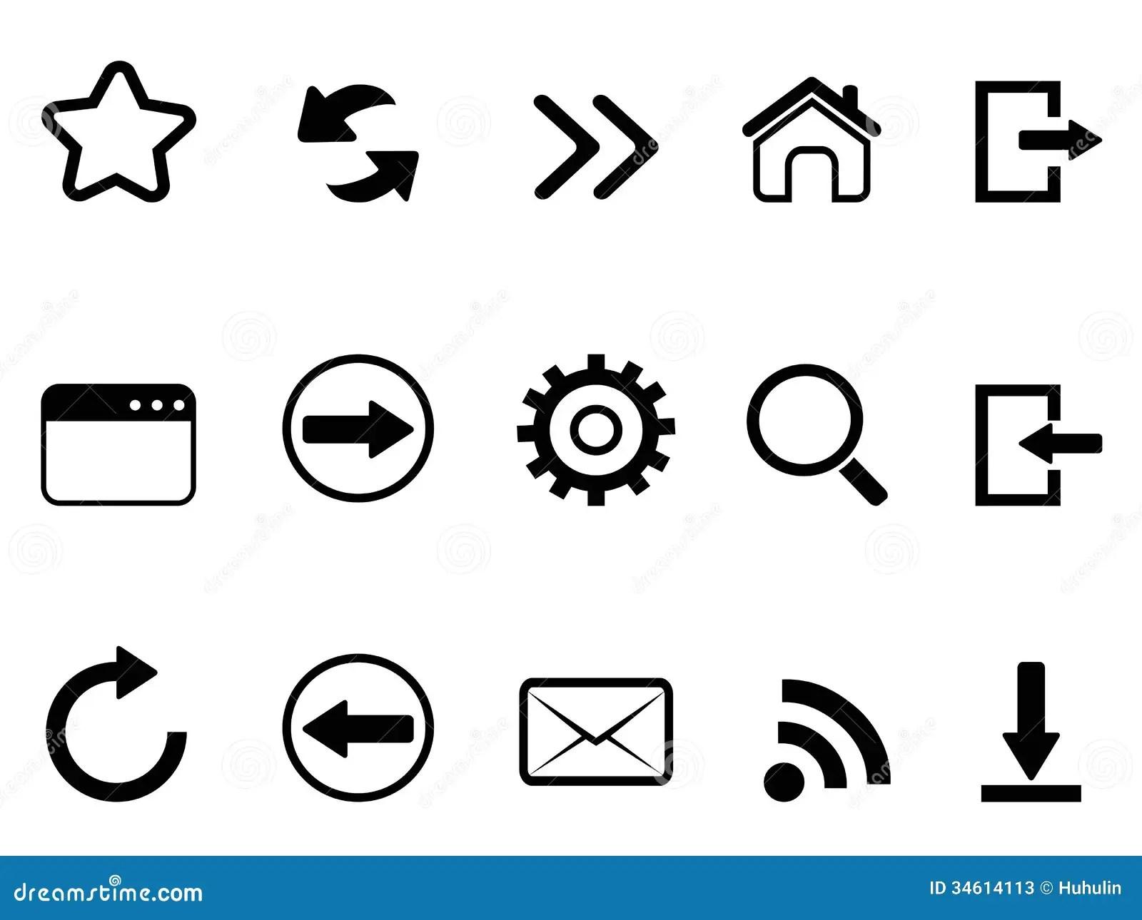 Le Web Browser Usine L Icone Illustration De Vecteur