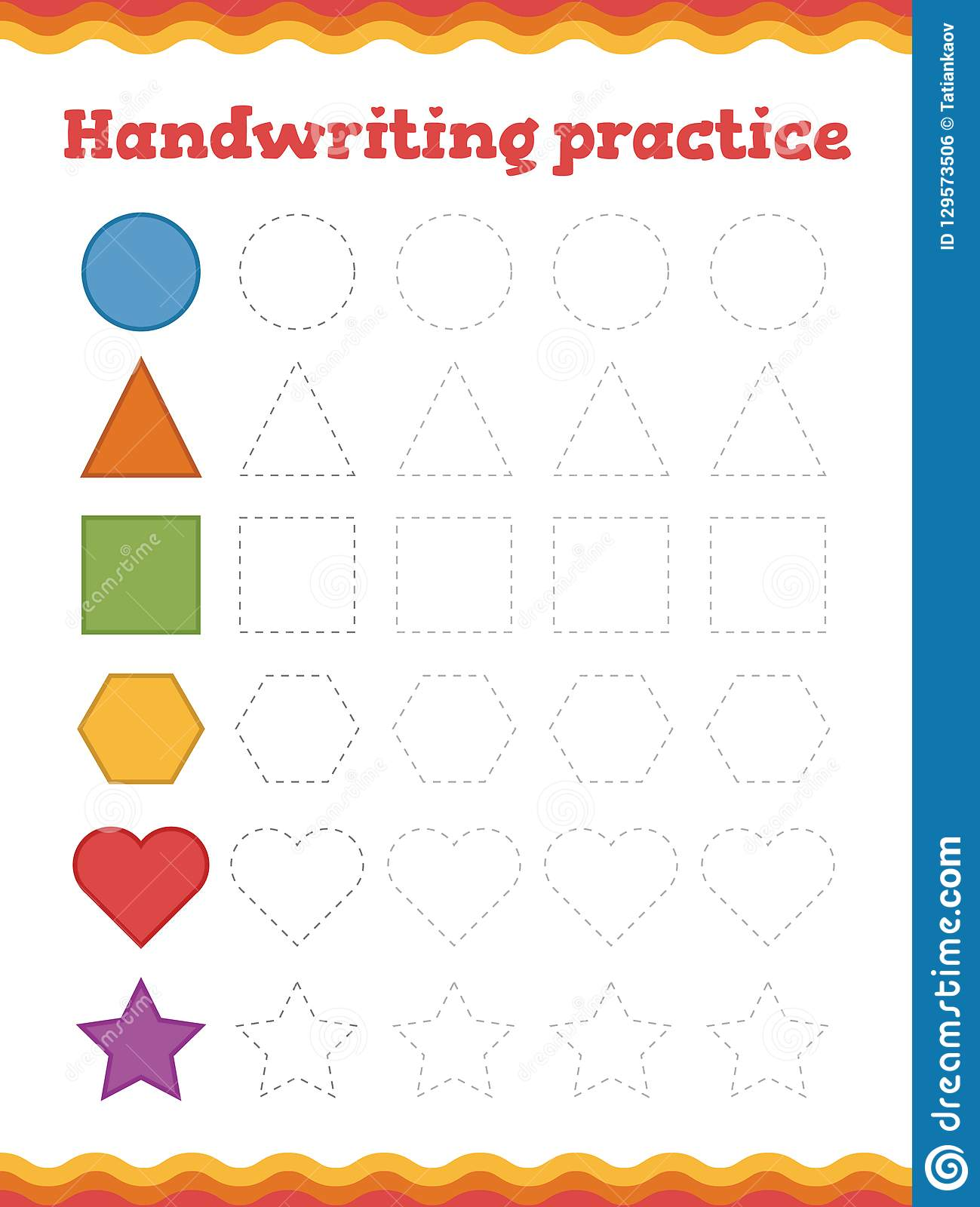 Learn Shapes And Geometric Figures Handwriting Practice