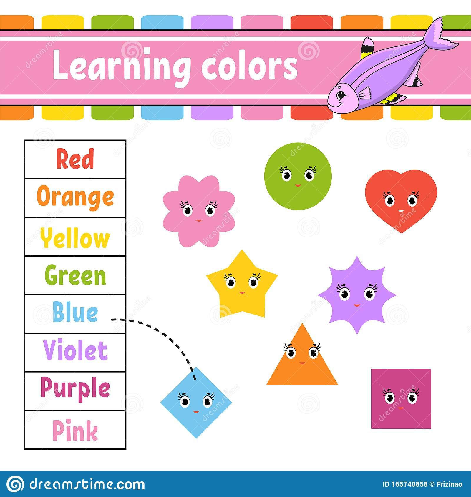 Learning Colors Education Developing Worksheet Activity