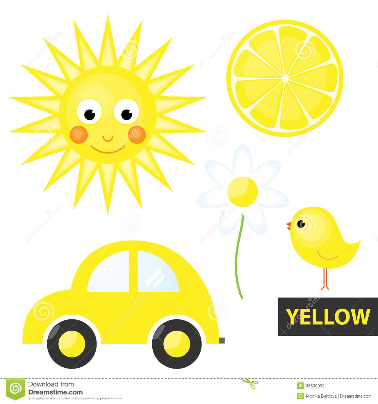 Learning Colors Yellow Stock Photos