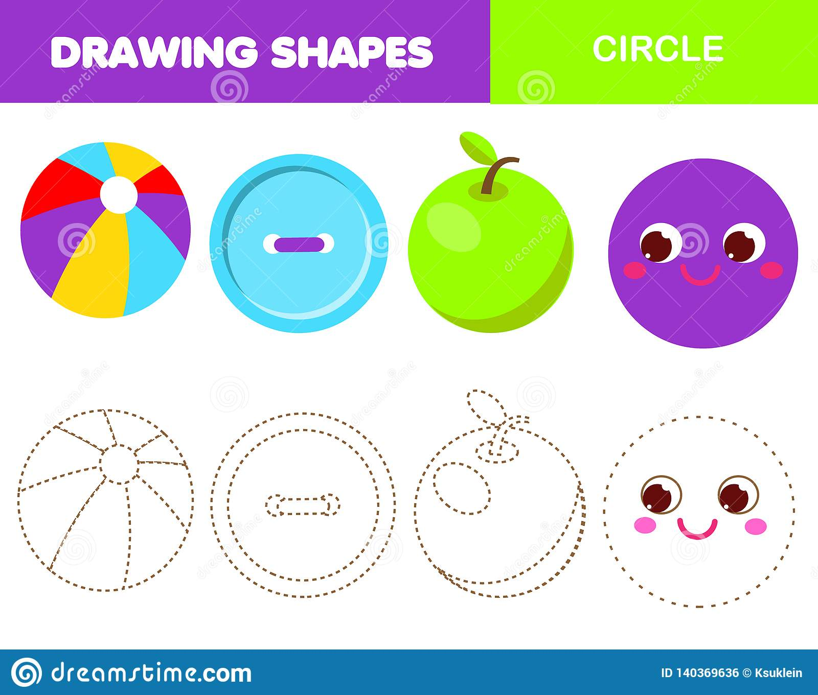 Learning Geometric Shapes For Kids Circle Handwriting