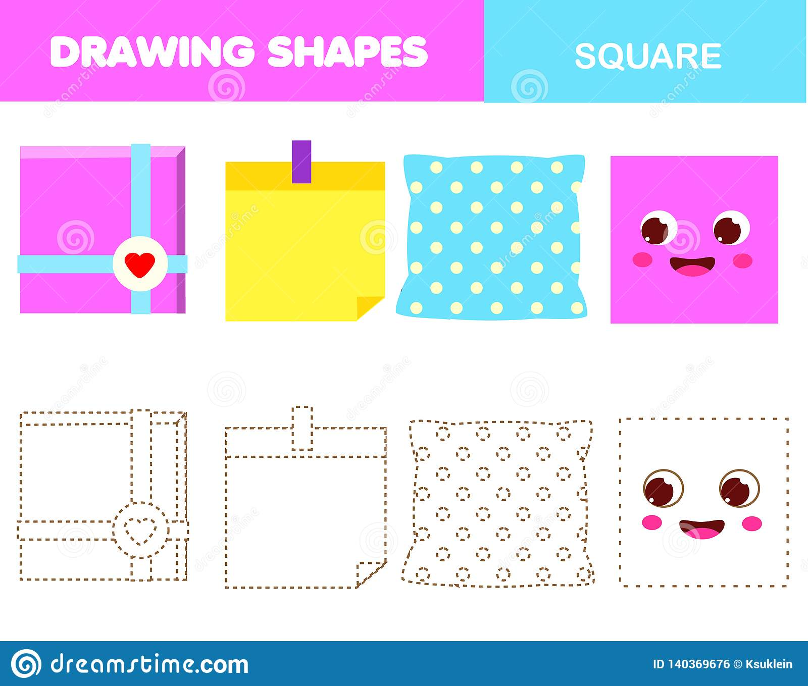 Learning Geometric Shapes For Kids Square Handwriting