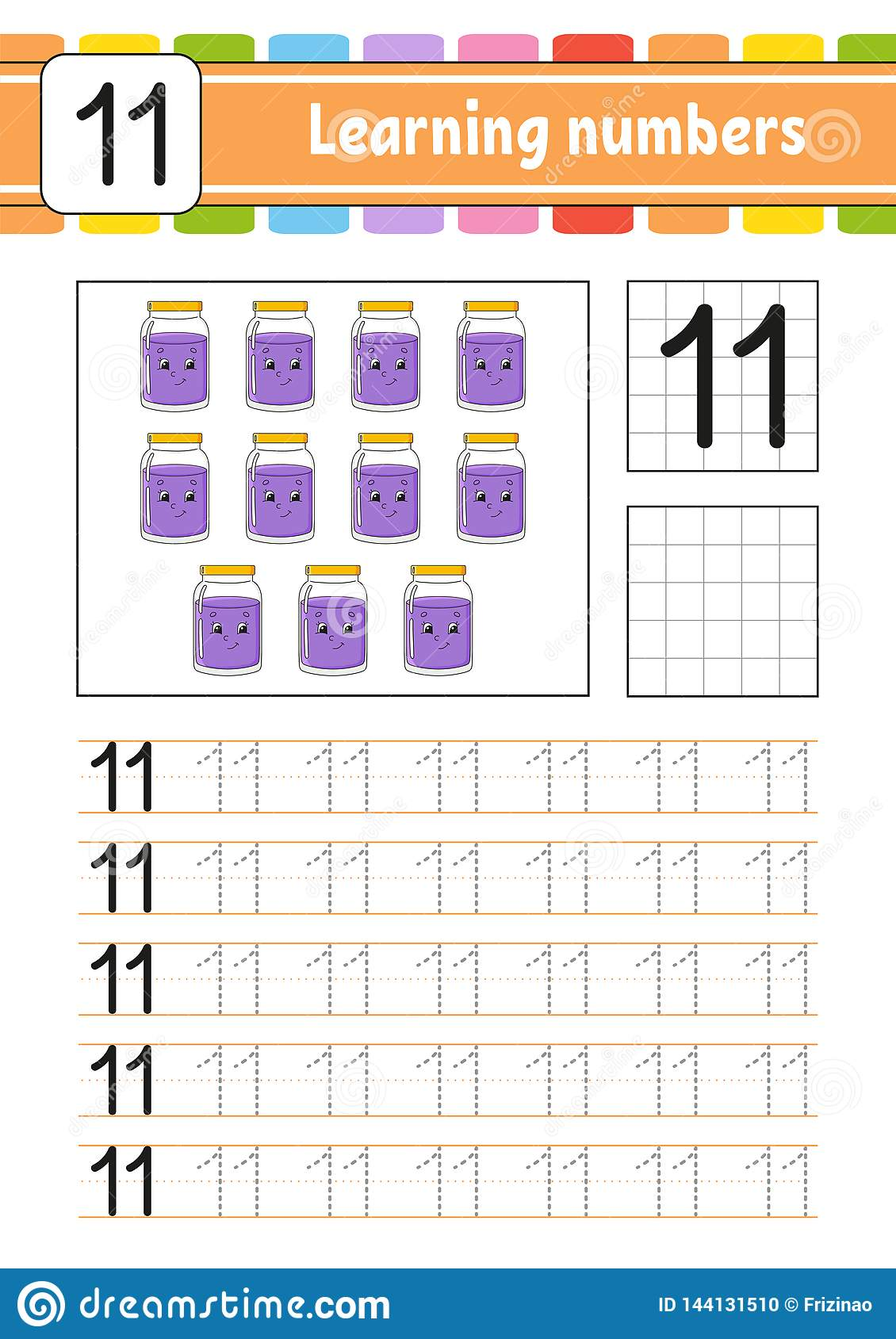 Learning Numbers For Kids Handwriting Practice Education