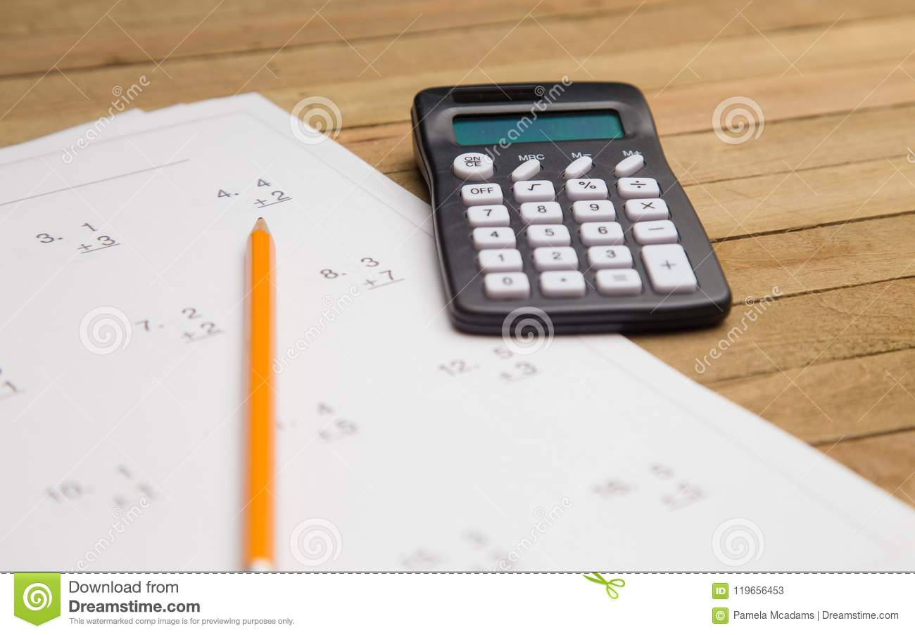 Learning To Do Math Stock Image Image Of Busy Arithmetic
