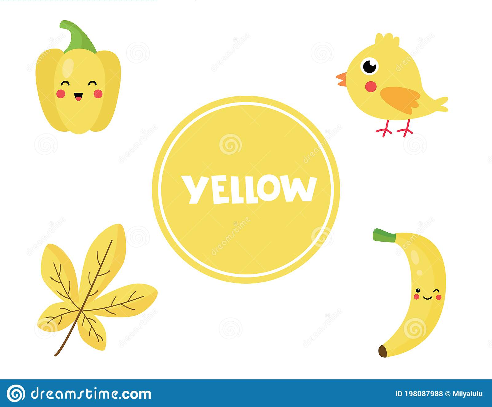 Learning Yellow Color For Preschool Kids Educational