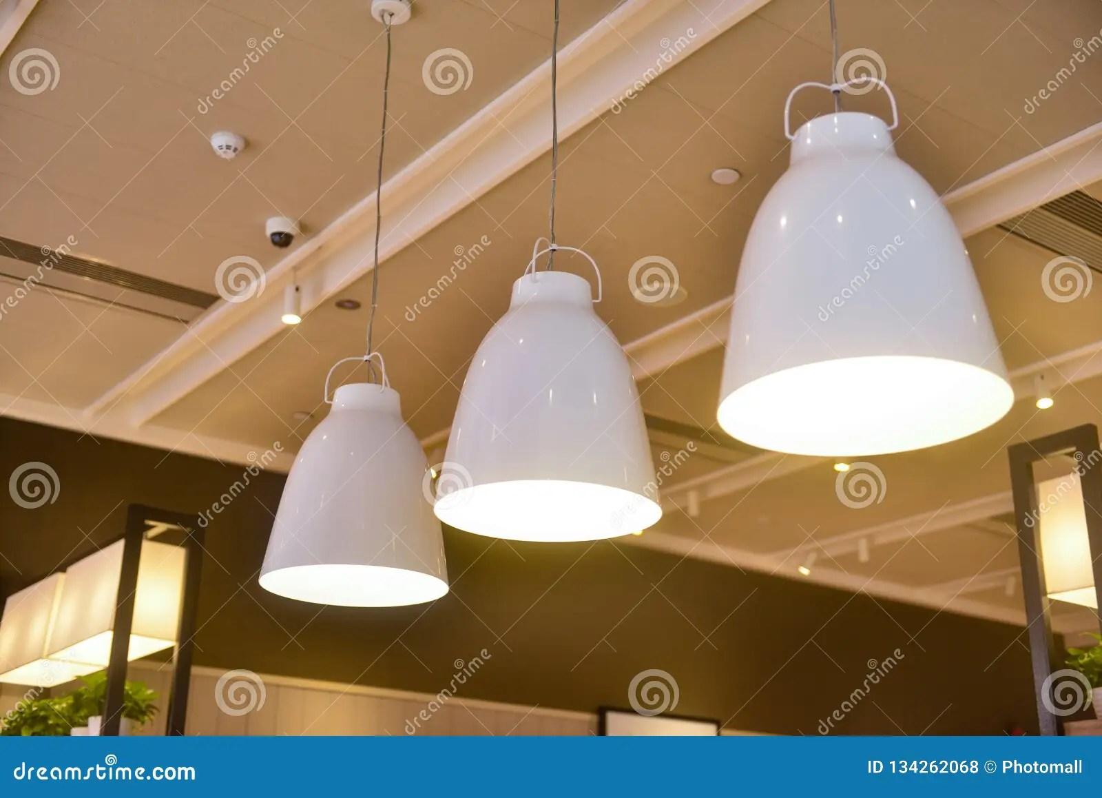 https www dreamstime com led hanging lighting commercial building modern pendant restaurant image134262068