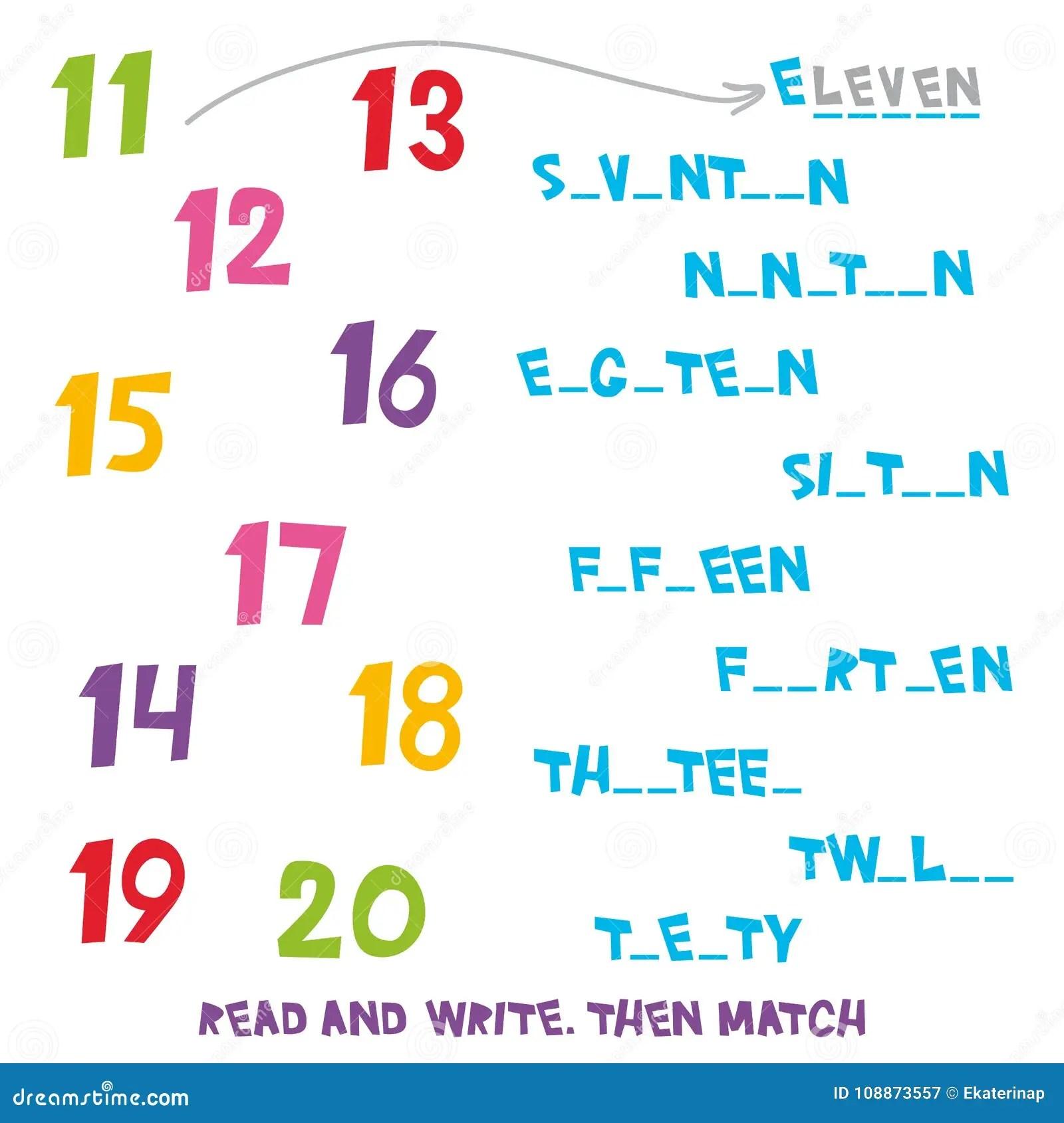 Lees En Schrijf Dan Pas Aantallen 11 Tot 20 Aan Jonge