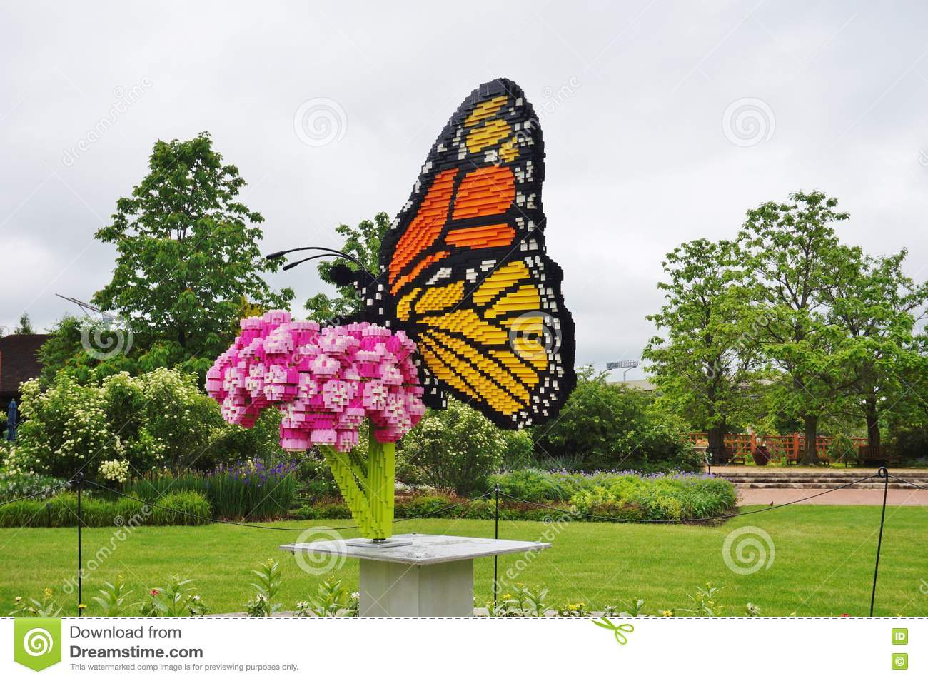 Lego Sculptures On Display At The Reiman Gardens At Iowa