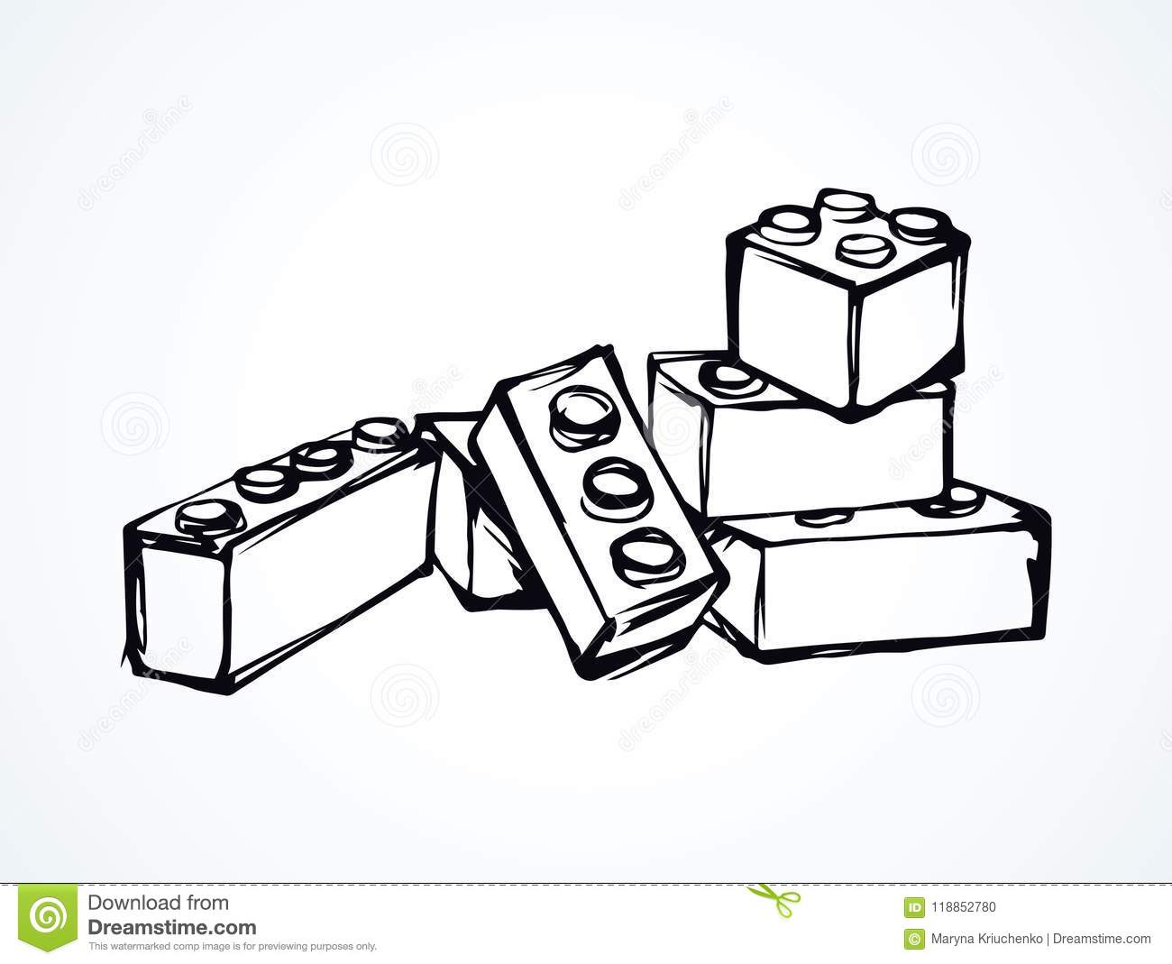 Lego Vector Drawing Stock Vector Illustration Of Icon