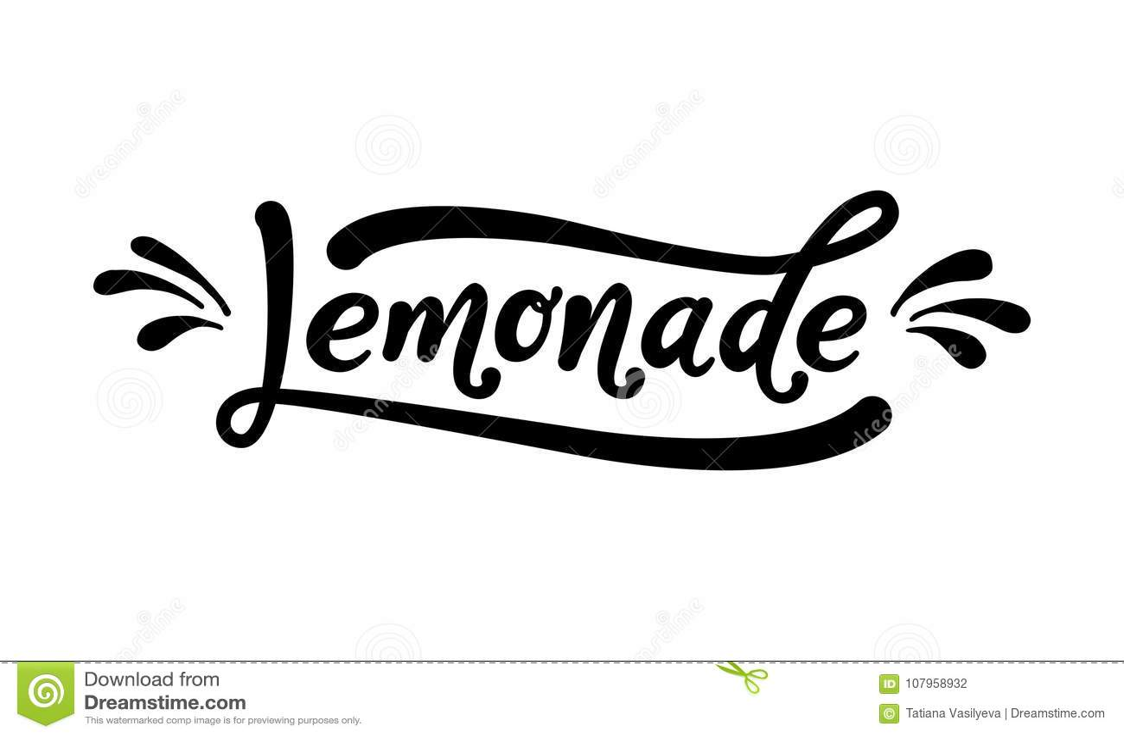 Juice Hand Written Lettering Vector Illustration
