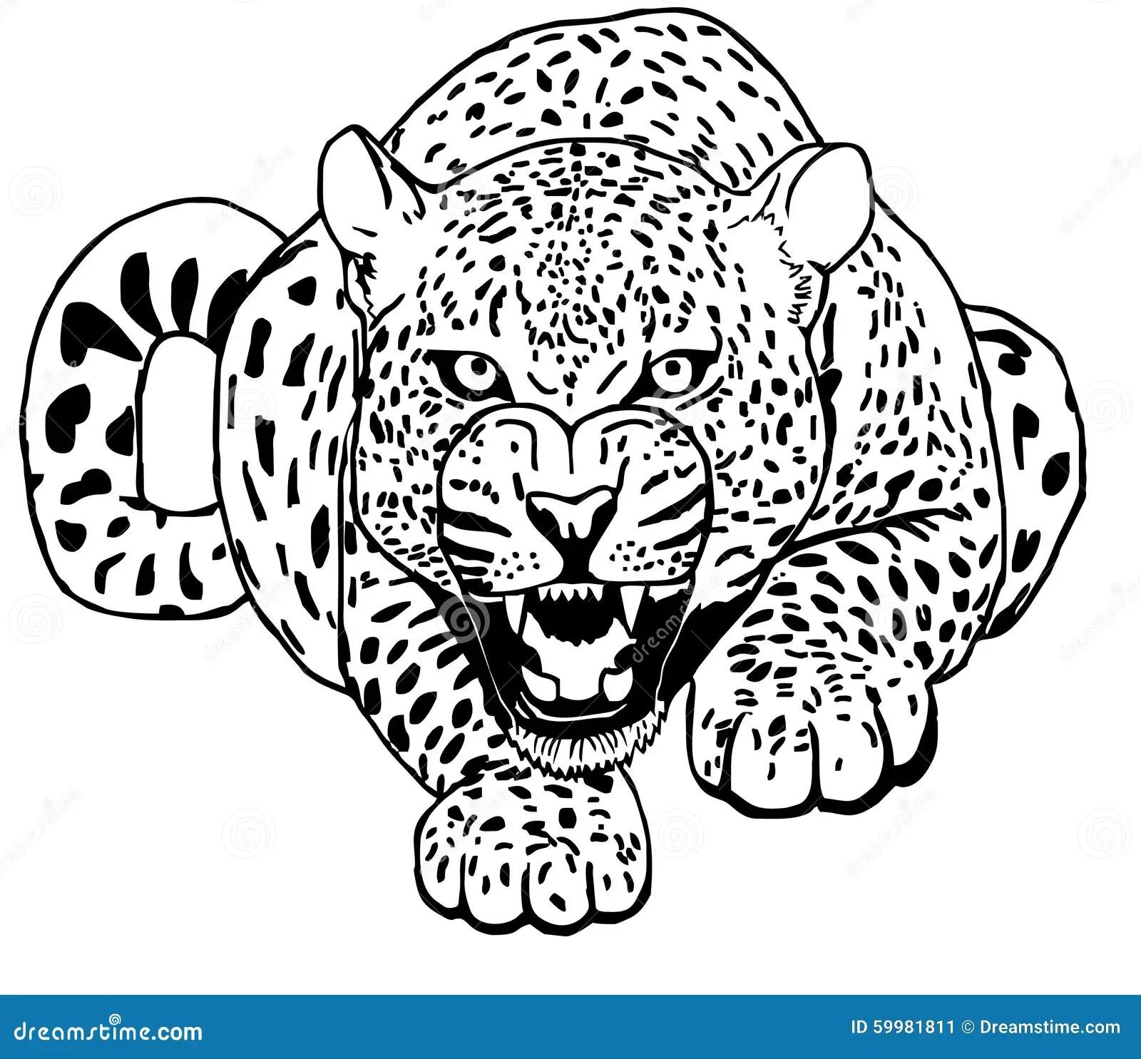 Leoparden Smyga Sig Tatoo Vektor Illustrationer