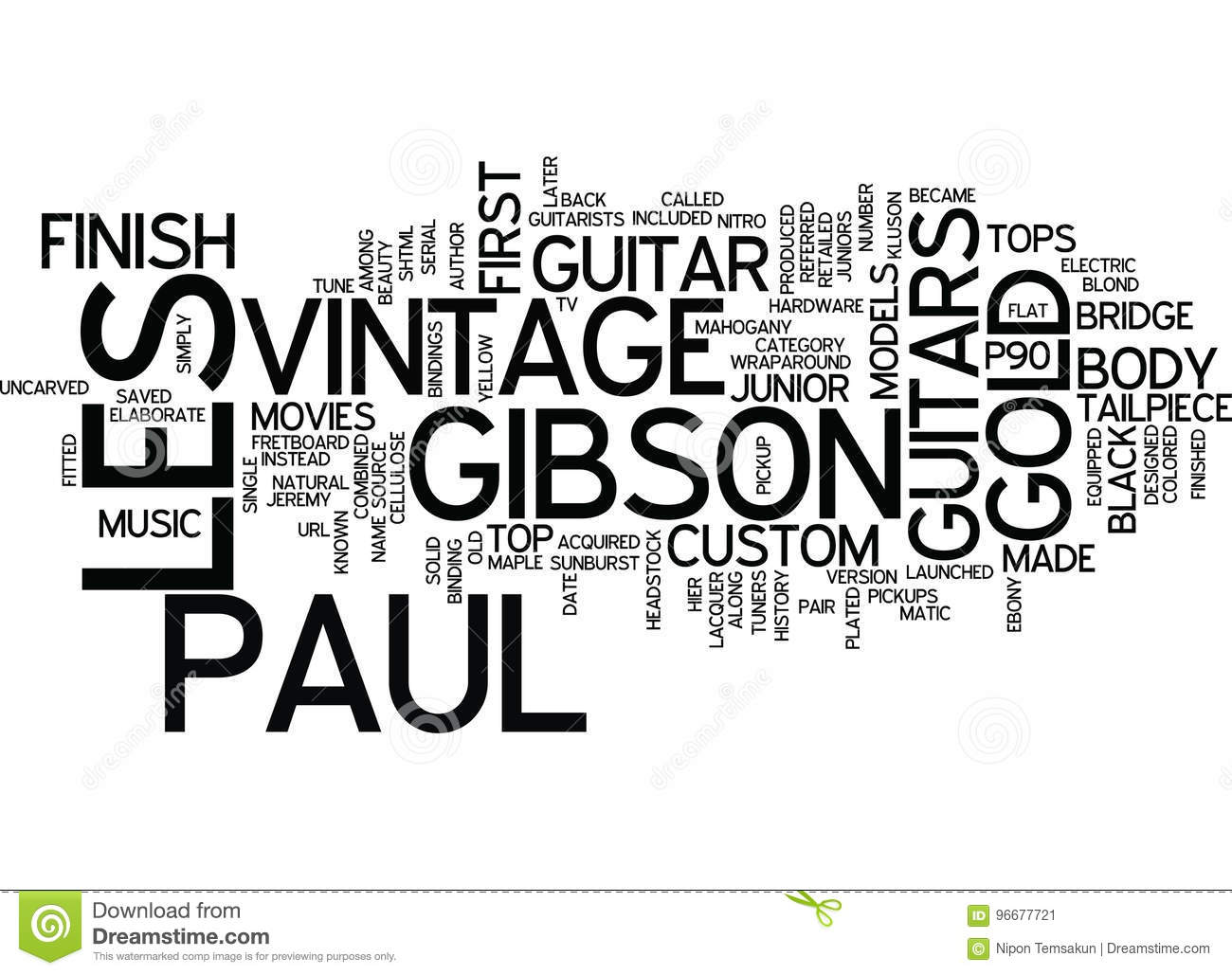 Les Paul Vintage Gibson Guitars A History Text Background