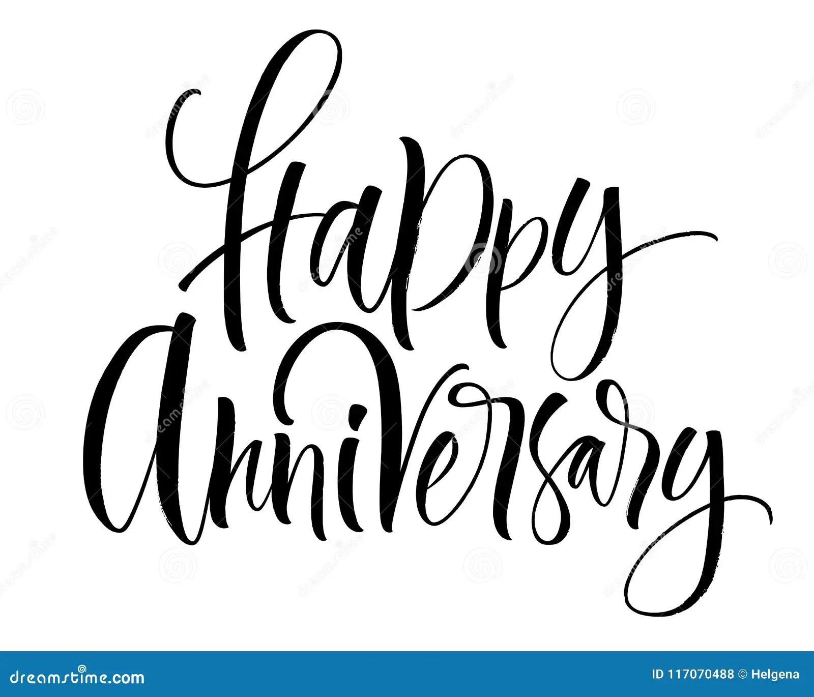 Letras Felices Del Aniversario Ilustracion Del Vector