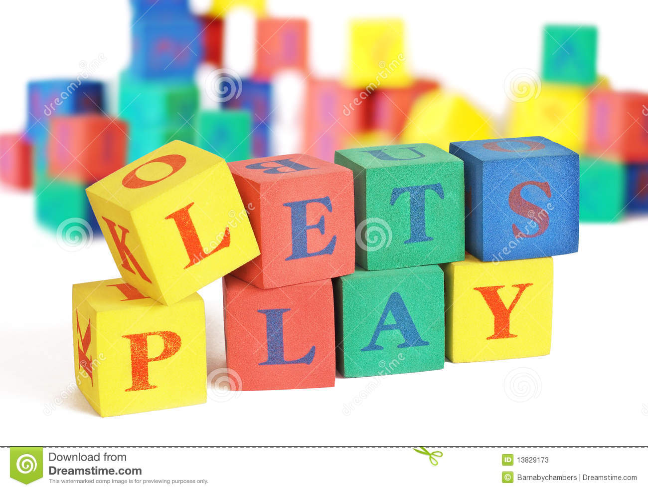 Lets Play Stock Image Image Of Lets Text Cube