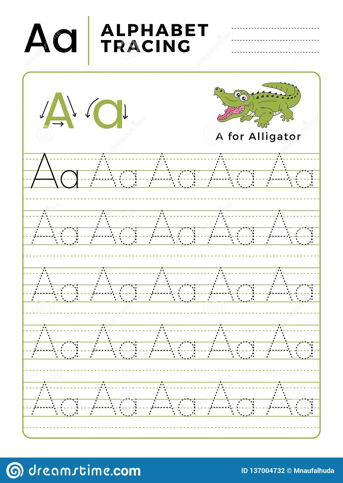 Worksheet Letter Alligator