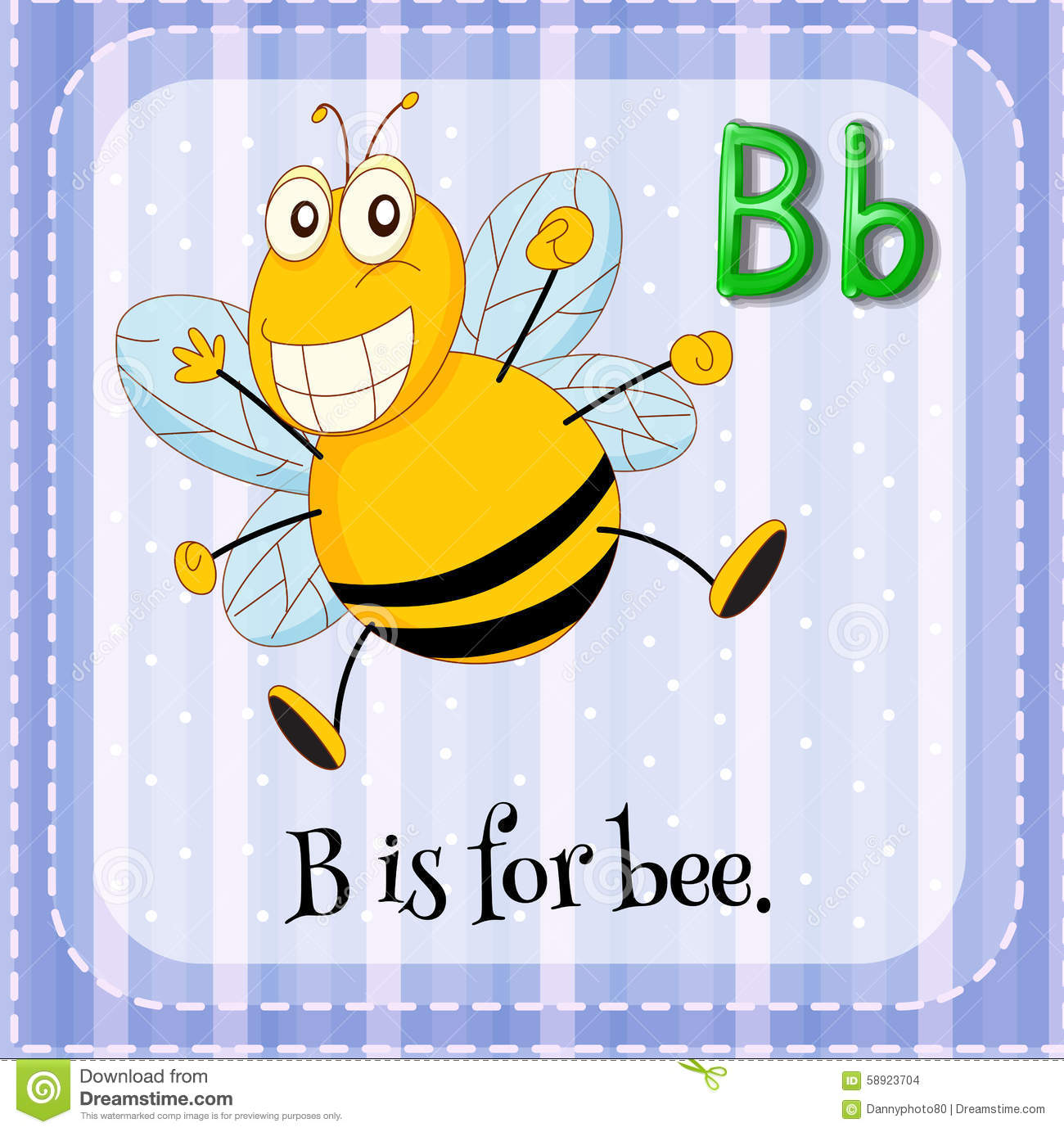 Letter B Is For Bee Stock Vector